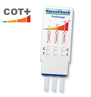 3-levels nicotine (cigarettes) test in urine (NarcoCheck)