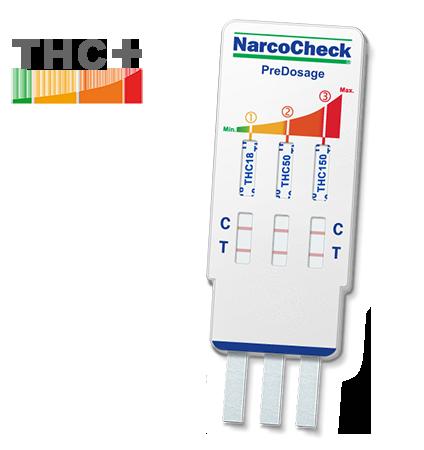 PreDosage Cannabis (THC) test - 3 levels