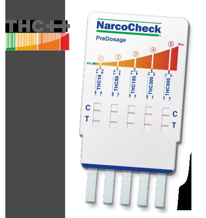 PreDosage Cannabis (THC) test - 5 levels